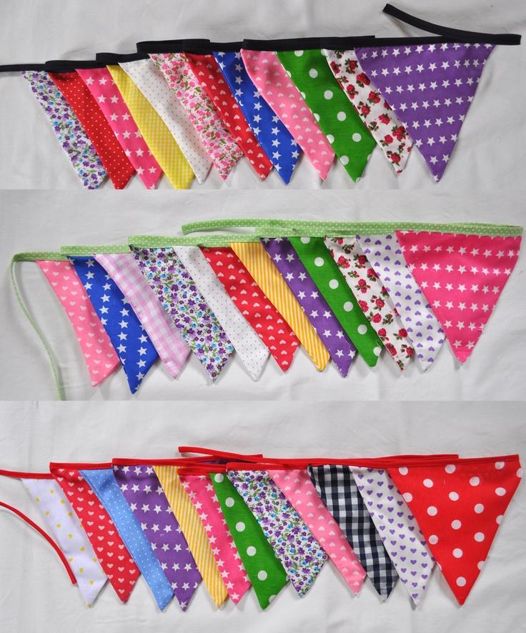 Banderines de tela, $20.00