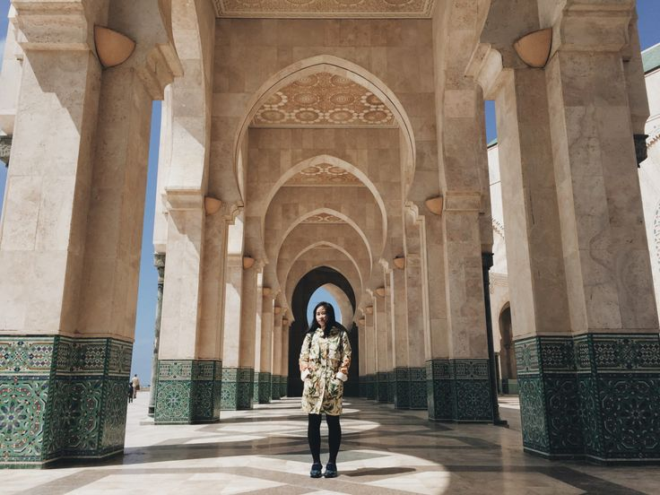 Arches of Hassan II Mosque, Casablanca, Morocco