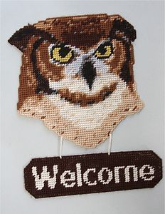 free plastic canvas owl patterns - Google Search