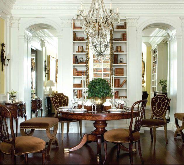High Ceilings... Wooden Moulding... Fancy Chandeliers