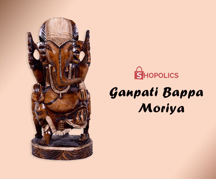 #Teak #wood #Ganesha#Statueat #Shopolicswith particulars: #Weight: 987 g, #Dimensions: 10 inches, #Material: #TeakWood Shop now:  https://goo.gl/uDQdF8