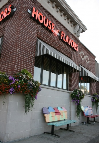 House of Flavors, Ludington, Michigan. The kids' favorite flavor is Superman! Picture is from Yahoo.com.