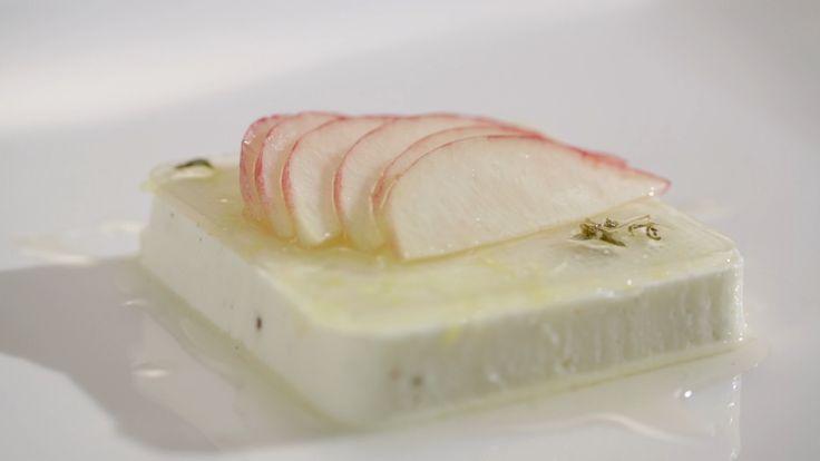 Jake and Elle's Yoghurt Pannacotta with Lemon Zest Jelly from S4 of MKR: http://gustotv.com/recipes/dessert/yoghurt-pannacotta-lemon-zest-jelly/