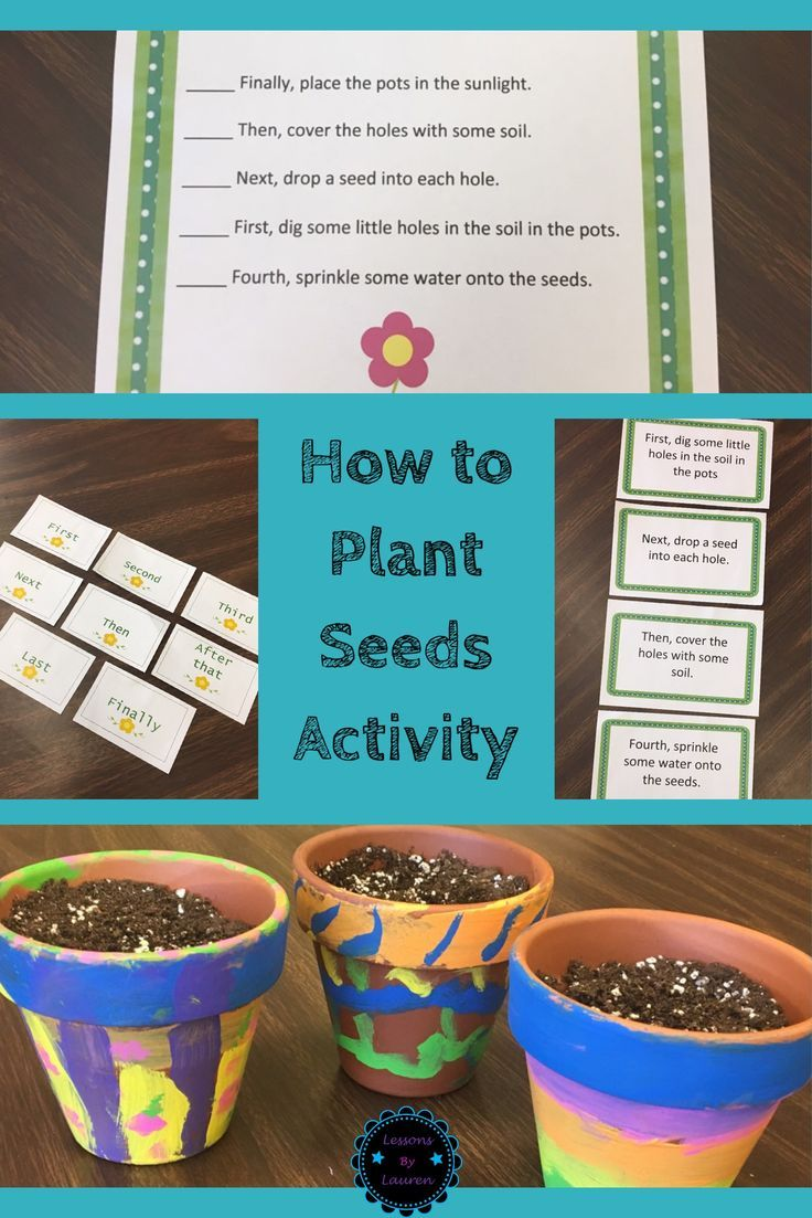 It's Spring!! What better way to celebrate this beautiful season than to plant seeds?!  This sequencing activity includes: -Five step cards that have clear transition/sequence words. Students can put these cards in order during at a literacy center to practice sequencing.  -A worksheet (students number steps). This could be use as morning work, homework, and/or a quick assessment/quiz. -A writing page for your students to practice composing an informational text/how-to paragraph.