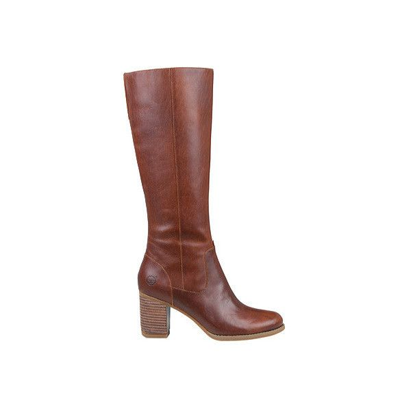 Women's Timberland Atlantic Heights Tall Waterproof Boot (255 AUD) ❤ liked on Polyvore featuring shoes, boots, casual, waterproof boots, long boots, knee high leather boots, timberland boots, tall leather boots and leather boots