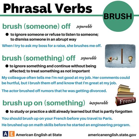 Phrasal verbs - BRUSH
