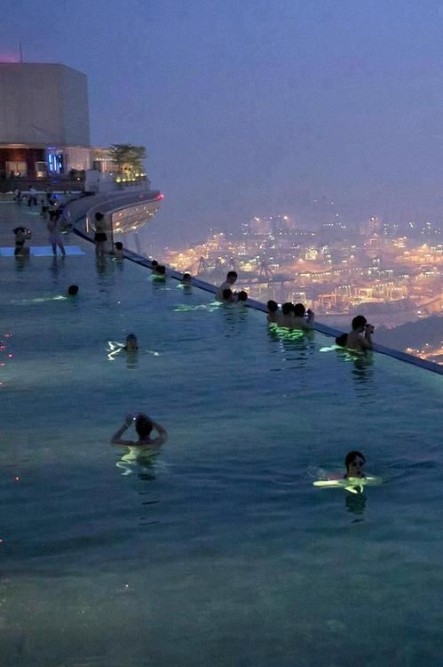 Tall Building Rooftop Pool
