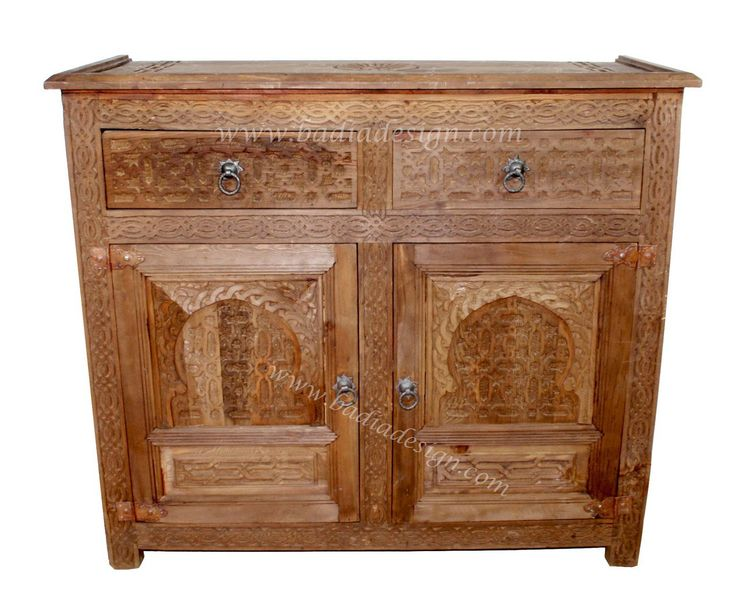Hand Carved Wooden Cabinet - CW-CA015. Moroccan FurnitureWood ...