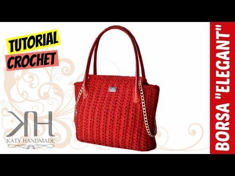 TUTORIAL BORSA Elegant, Uncinetto.Crochet, PUNTO FANTASIA || Katy Handmade, My Crafts and DIY