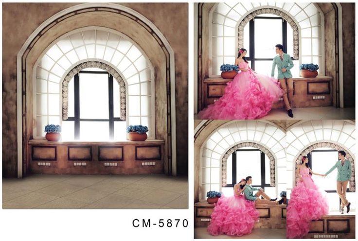 2 м * 1.5 м ( 6.5FT * футов ) арочные окна напольная ваза фотографии фонов seniorWedding backgroundcm-5870