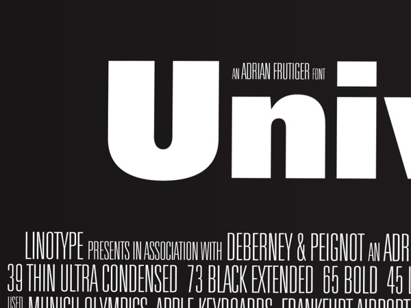 Univers Poster by Nick Blair, via Behance