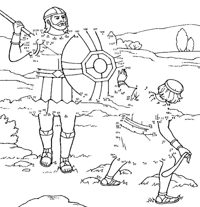 David en Goliath verbind de cijfers activiteit // David