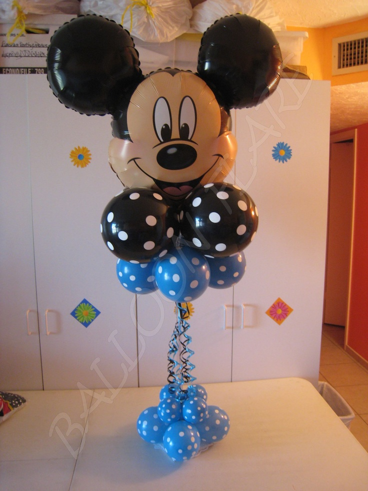 Mm balloons decoration gallery columns balloon release for Baby mickey decoration ideas