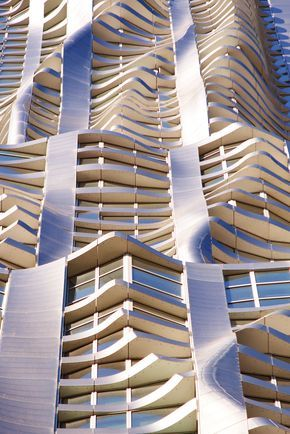 New York by Gehry   highrise condo tower recently completed in the Financial District downtown Manhattan. Designed by architect Frank Gehry.