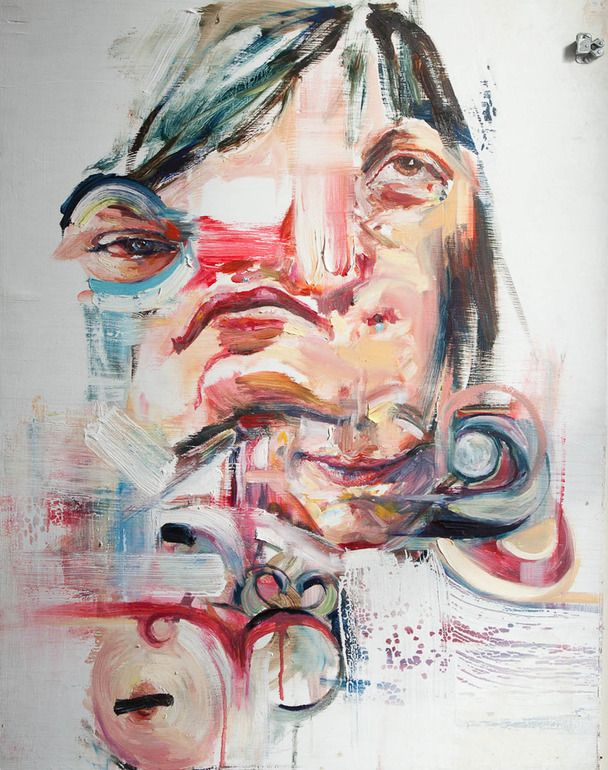 "Wyatt Mills; Oil, 2012, Painting ""Psychologically Rearranged Sarah"""