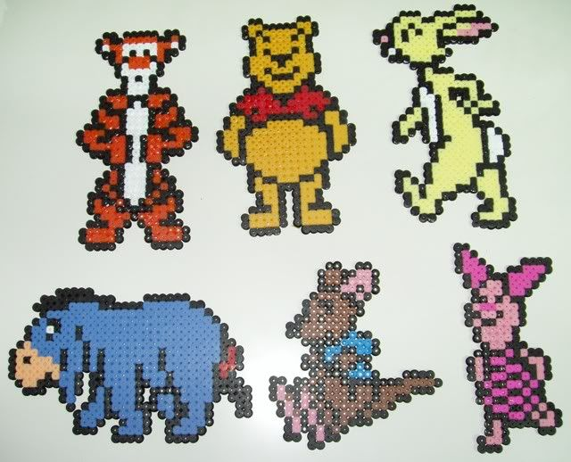 Winnie the Pooh and friends perler bead sprites by Alfons05