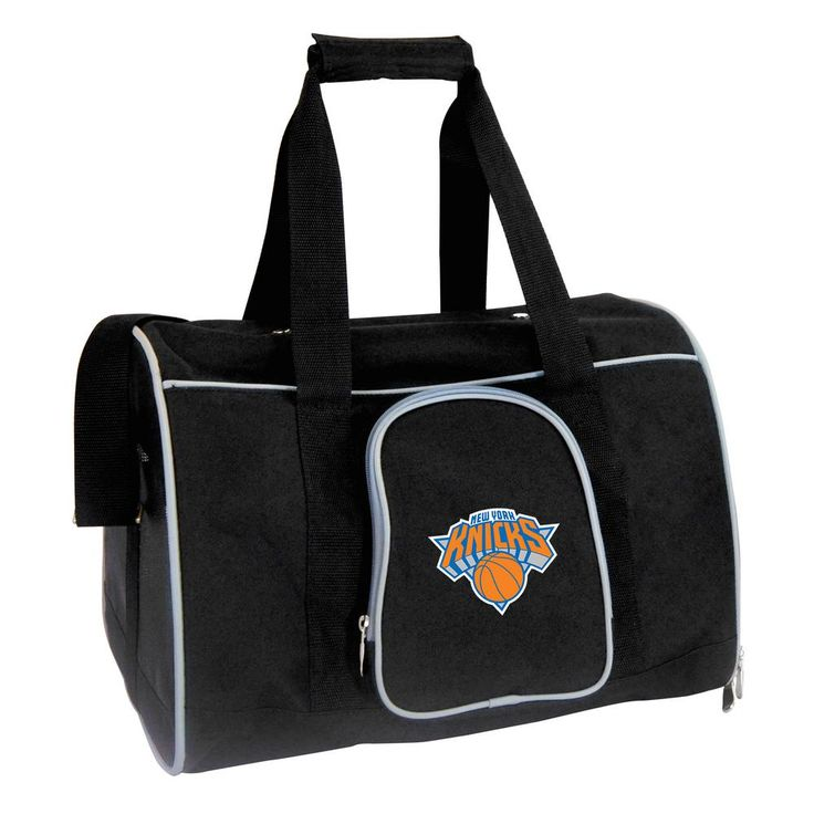 NBA New York Knicks Pet Carrier Premium 16 in. Bag in Gray