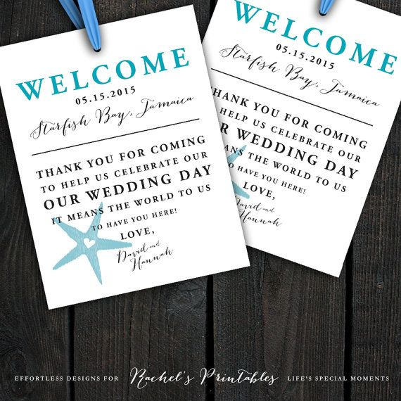 ... Pinterest Wedding welcome bags, Welcome bags and Wedding gift bags