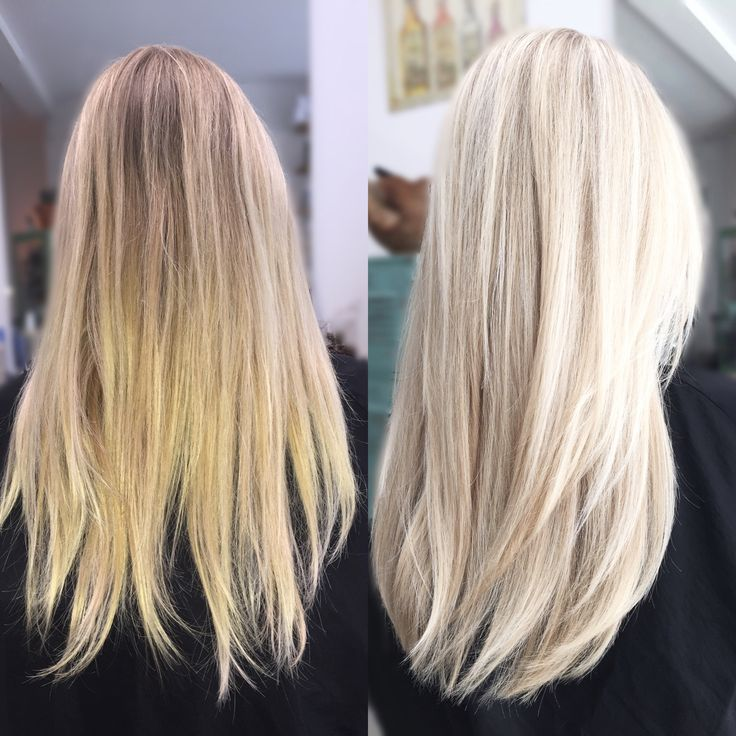 Olaplex treatment & redken color flashlift 30 vol. 9T&9V gloss