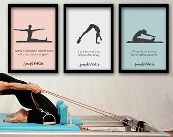 PILATES POSTER - Set von 3 Pilates-Poster - Pilates Kunstdruck - Pilates-Studio-Dekor - Pilates Inspiration - Pilates-Wand-Dekor - Wandkunst