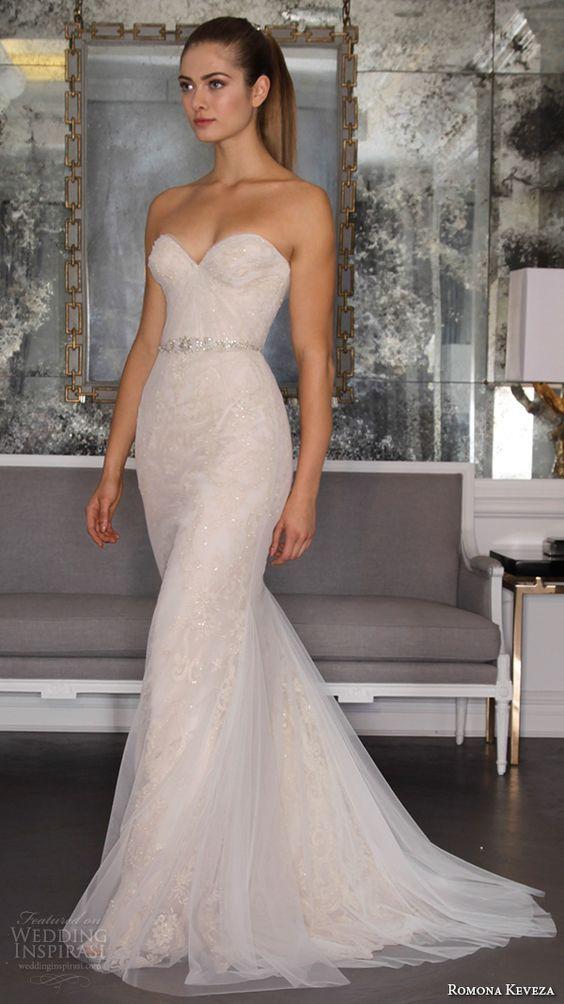 04 strapless sheath wedding gown - Weddingomania