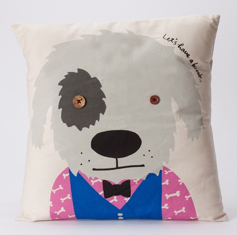 Rex 'Lets have a break' cushion