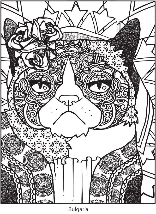 Grumpy Cat Coloring Page