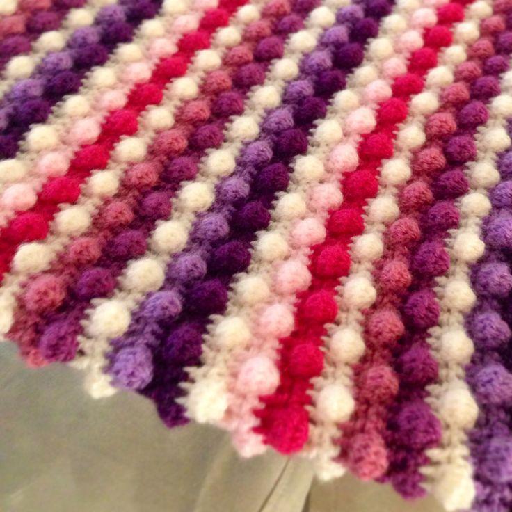 Colcha de cuna a punto pi a colcha de cuna a punto pi a for Colchas de punto de lana