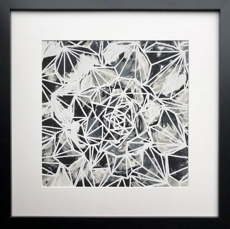 """Merrybell"" Graphic, Black and white, Succulent print by Natalia Heiser. Available through Seattle Art Source"