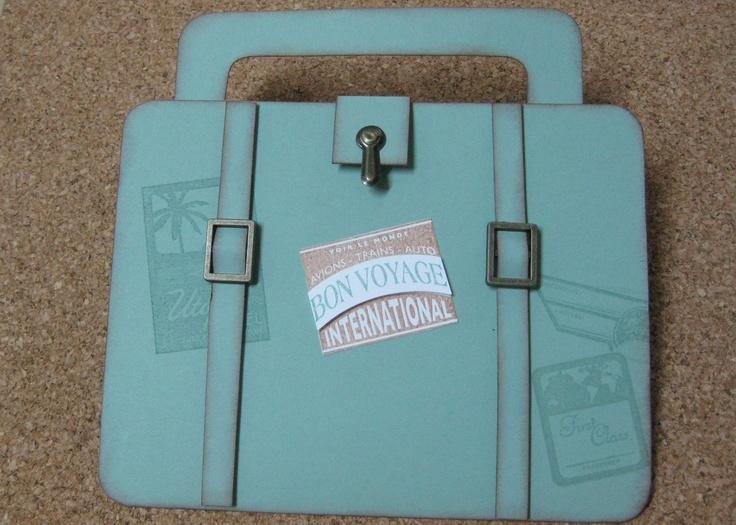 Vintage Suitcase - Goodbye Card.