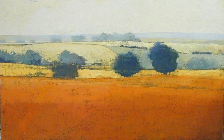 Earth Orange : landscape paintings : Landscapes, Paul Balmer