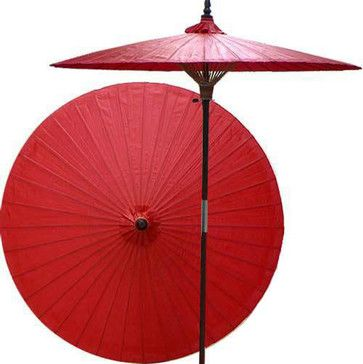 Cherry patio umbrella - asian - Outdoor Umbrellas - Oriental Decor