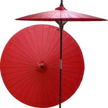 Cherry patio umbrella - asian - Outdoor Umbrellas - Oriental Decor