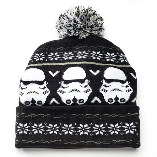 Roaming the galaxies can get a little chilly, so be prepared with this Star Wars knit cap featuring Stormtroopers. #ForceOfFamily