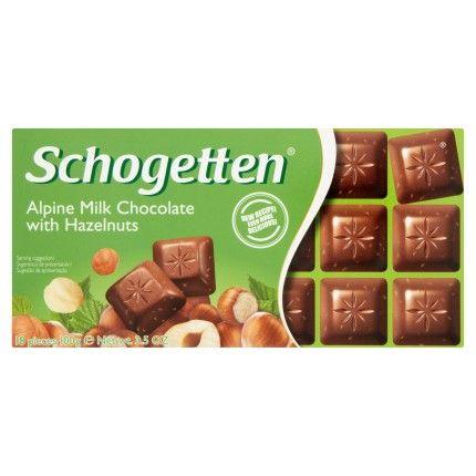 Schogetten Mléčná čokoláda s lískovými oříšky 100g