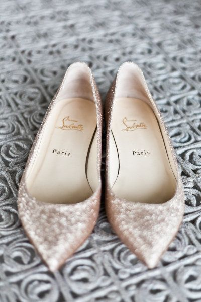 Louboutin sparkle flats, yes please