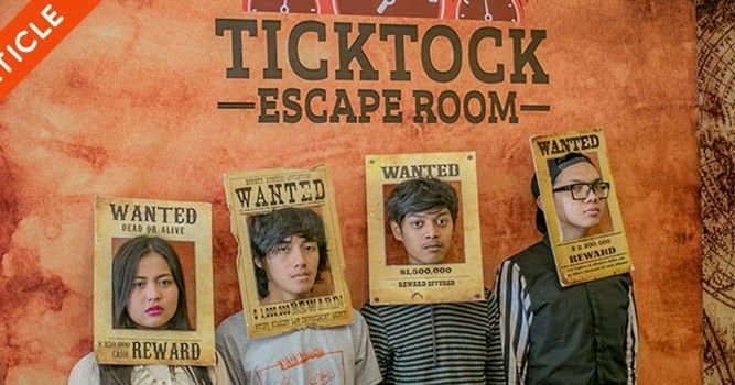 TickTock Escape Room, tempat hiburan masa kini dengan bermain teka-teki bersama teman-teman untuk bisa keluar dari sebuah ruangan penuh petunjuk! Wajib coba!