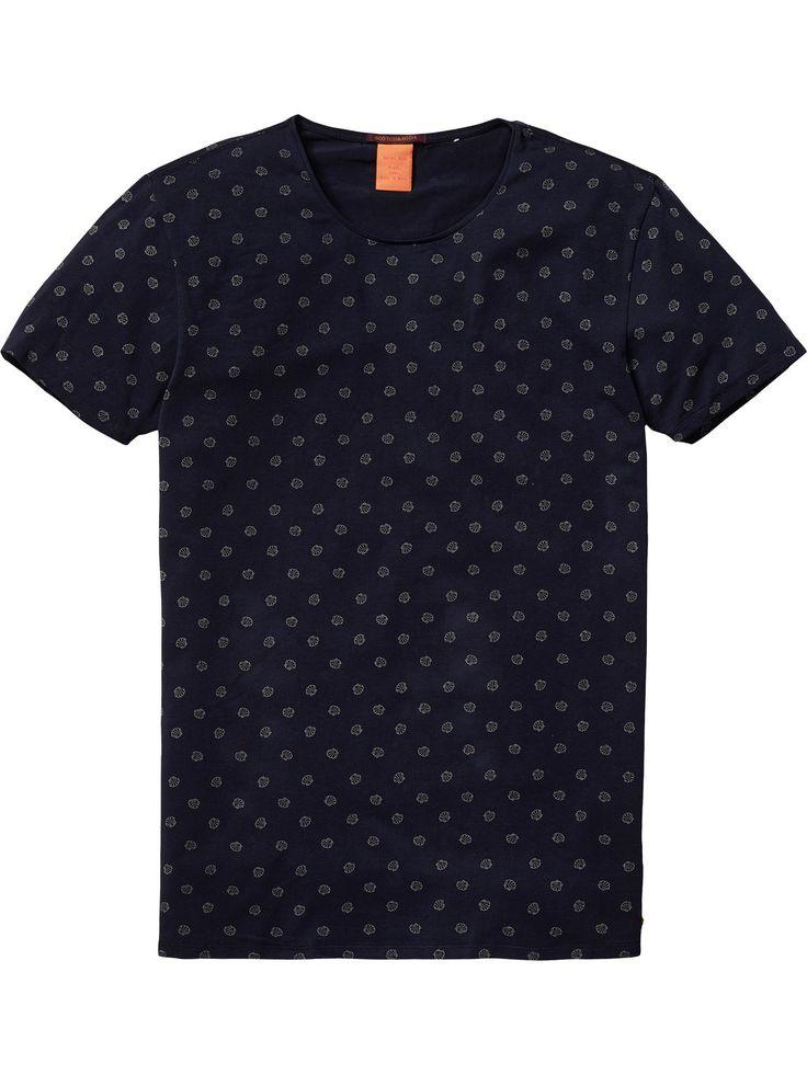Camiseta de cuello redondo cerrado | Camisetas de manga corta | Ropa para hombre en Scotch & Soda