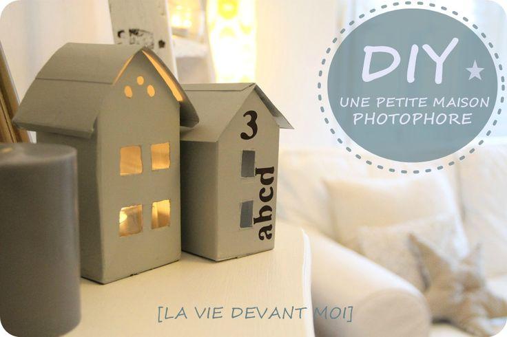 DIY : Petite maison photophore avec une brique de lait