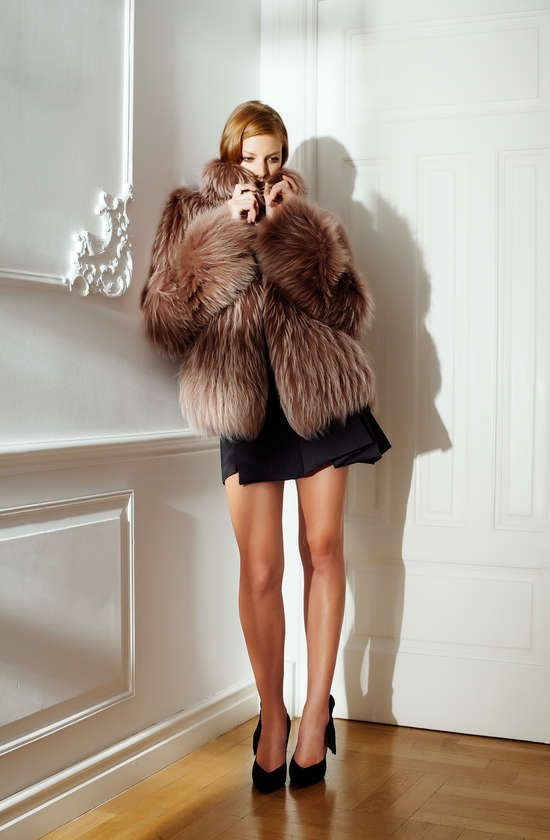 Païsi Cinnamon fluffy natural fox coat #truelove