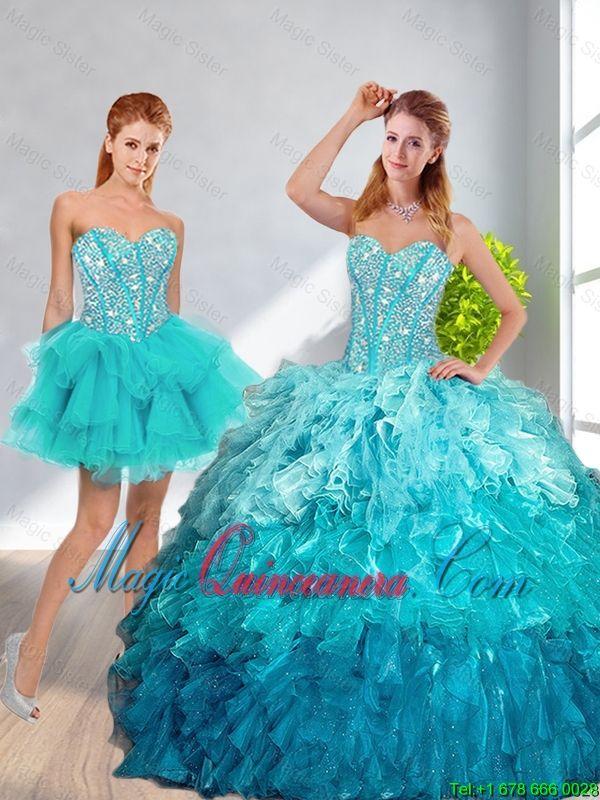 8482dcfe4 vestidos de 15 años desmontables verde agua