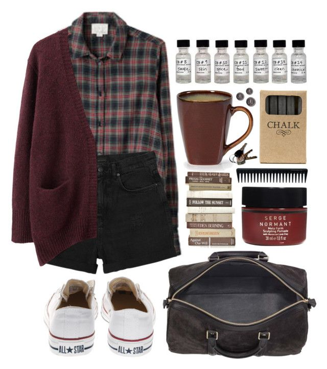 """Not dead yet"" by hanaglatison ❤ liked on Polyvore featuring Band of Outsiders, Monki, Acne Studios, Converse, Jayson Home, Serge Normant, GHD, women's clothing, women's fashion and women"