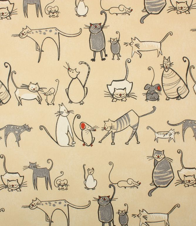 Fun Cat and Mouse PVC fabric  http://www.justfabrics.co.uk/curtain-fabric-upholstery/charcoal-cat-and-mouse-fabric1/