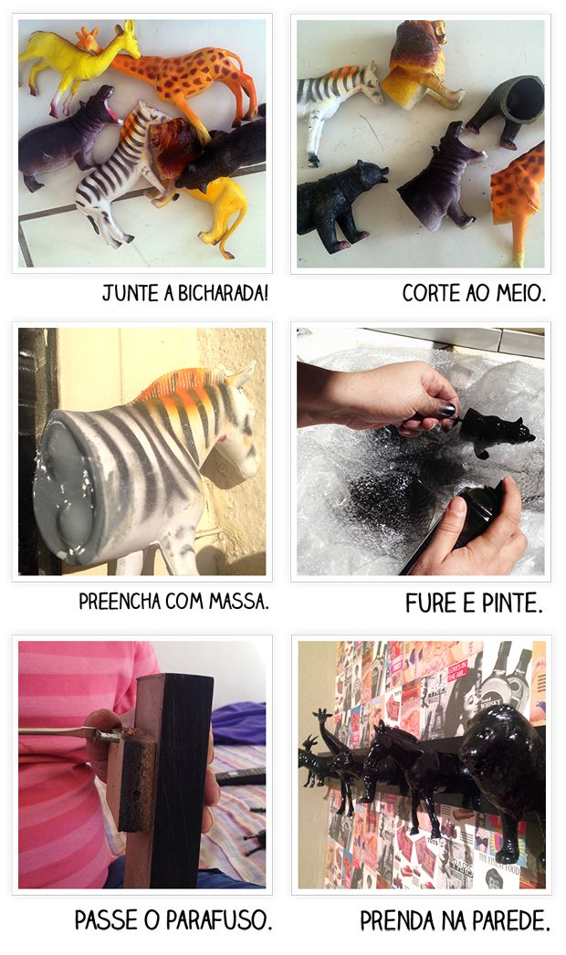 Casa de Cueca: Cabide de Brinquedo - Faça você mesmo!