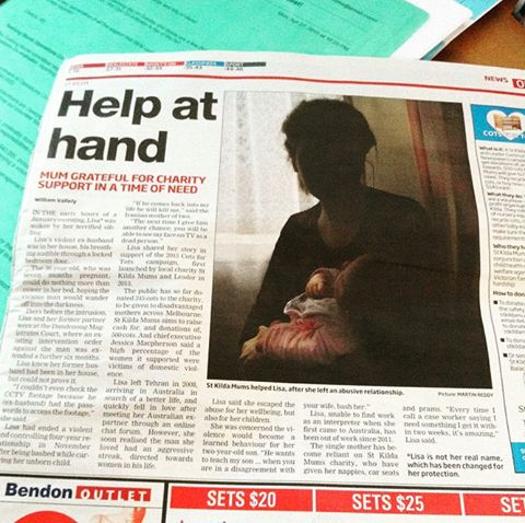 We are in the local Port Phillip Leader today with another article about our #cotsfortots2015 campaign and one of the mums we have helped recently. We still need to find 132 cots to meet our need so please share with your friends...there has to be more cots sitting in garages just waiting for home.