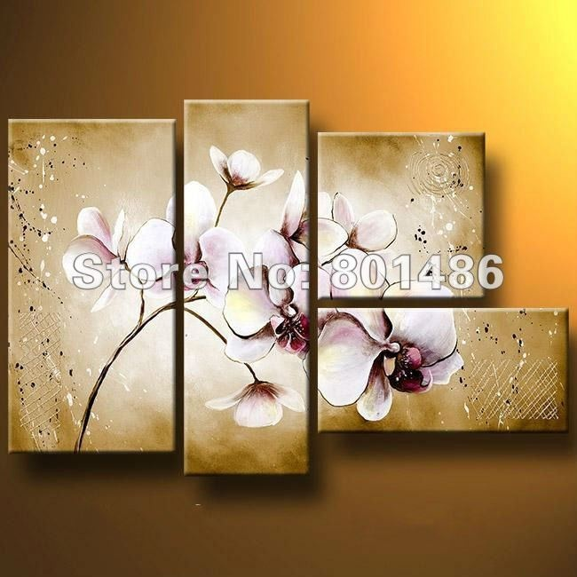 Modern oil painting on canvas , Contemporary painting Delicate orchid painting , free shipping on AliExpress.com. $126.00