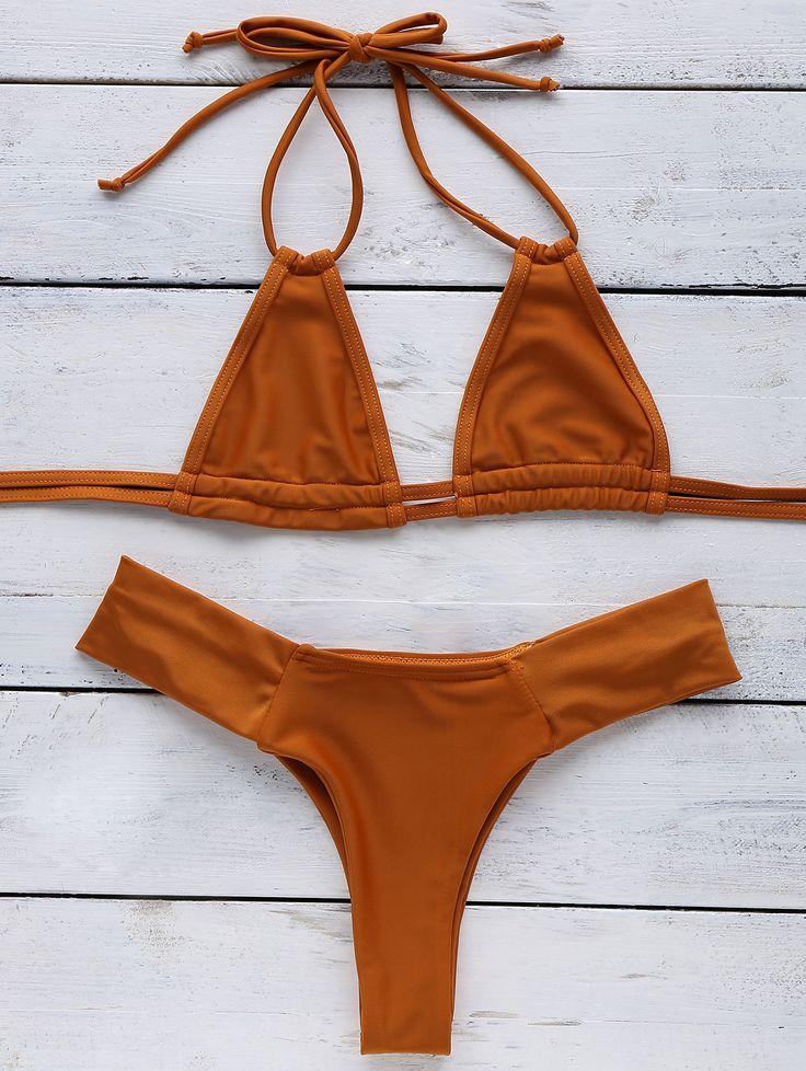 Orange Halter Bikini SWEET ORANGE: Bikinis | ZAFUL