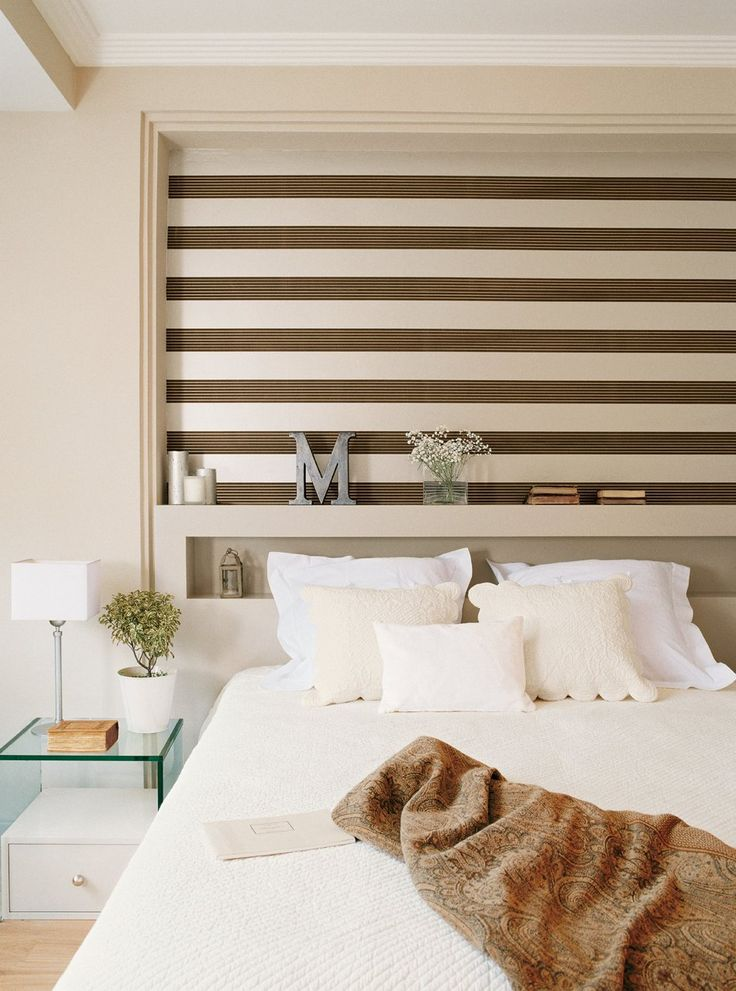 dormitorios pequeos el dormitorio alcoba cabeceros depto papel pintado cuartos espacio noche