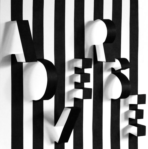 I like this. Magnanimous, out-of-the-box thing. Unique. Play with simple / basic shapes and lines. Play with angles. [Adverse by Katalin Bártfai, via Behance]