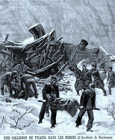 accident de train dans la neige pres de narbonne en janvier 1893 france drames et. Black Bedroom Furniture Sets. Home Design Ideas